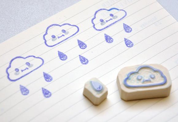 Kawaii stamps clouds