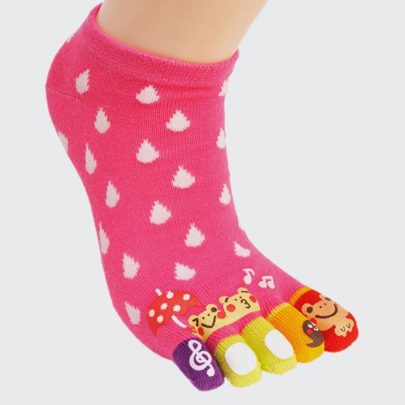 kawaii animal toe socks