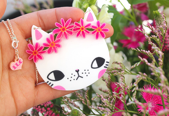 Spring Kittens Necklace - I Love Crafty x Pony People