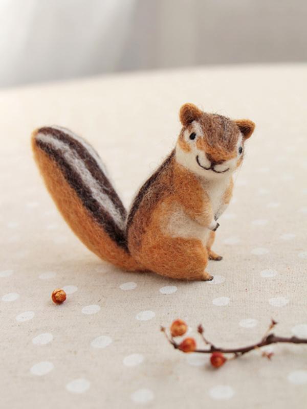 Makiko Arai's Smiling Felt Animals - Squirrel