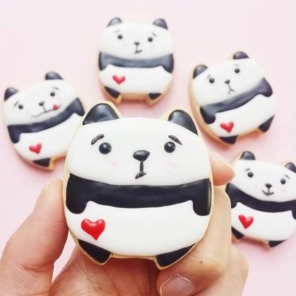 vickiee yo / vickie lu - cute panda cookies