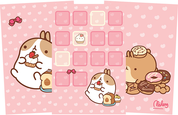 Molang iPhone Theme Sweets