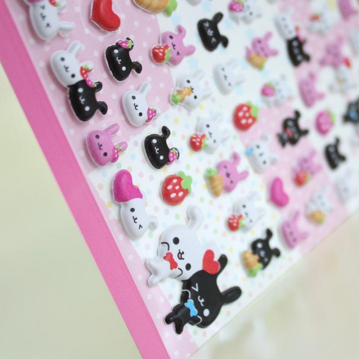 kawaii box japan march 2017 - puffy bunny stickers