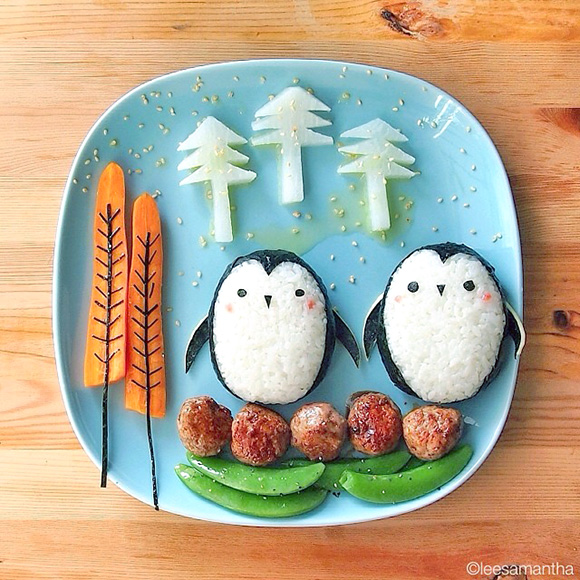 Penguins- Food Art Kids Meals Bento Cute Kawaii Samantha Lee