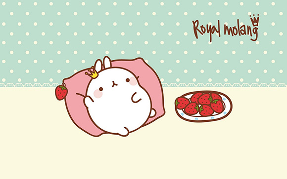 Molang Cute Korean Bunny Wallpaper