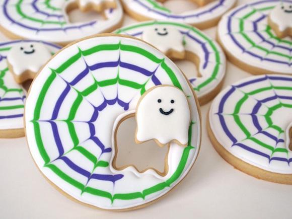 Kawaii Cute Halloween DIy Crafts Ghost Cookies
