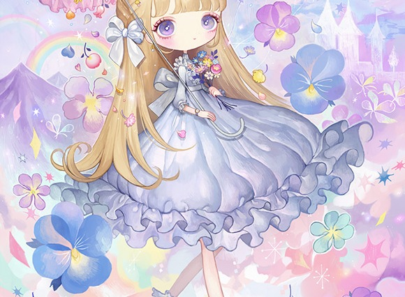 Japanese Illustrator London - Fairy Kei Girl