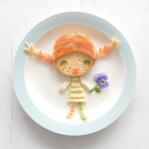 Cute Lunch Food by Sandra v.d. Broek