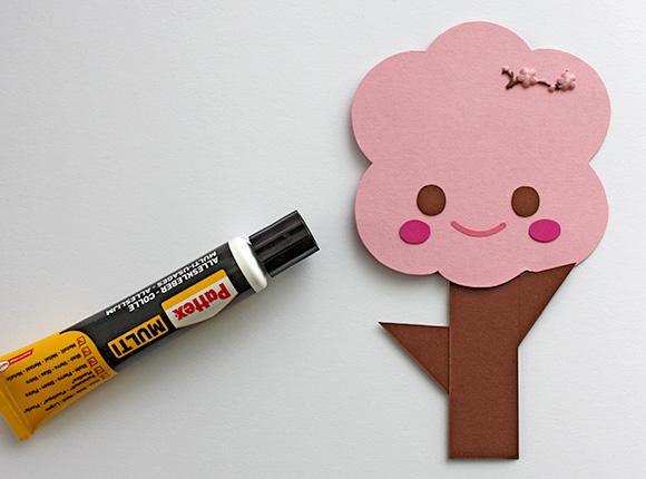 DIY Sakura Tree Clip - step 3