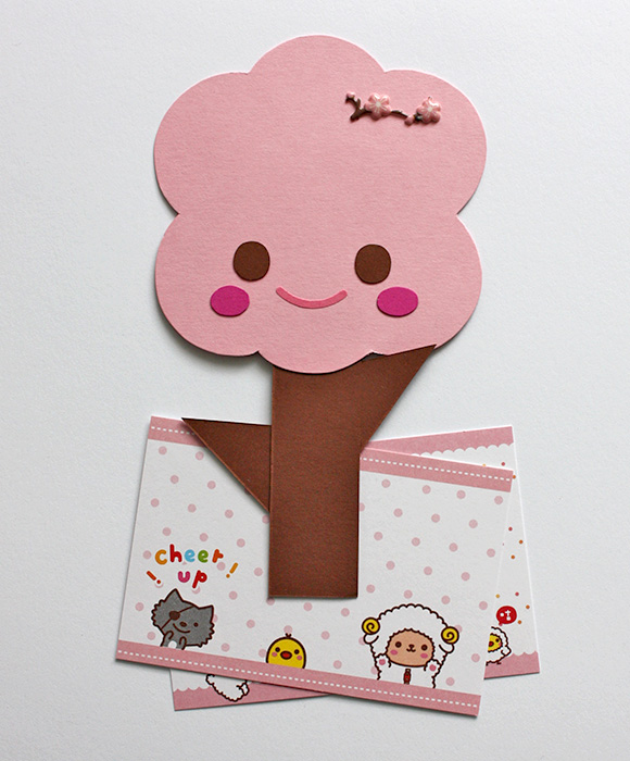 DIY Sakura Tree Clip - magnetic