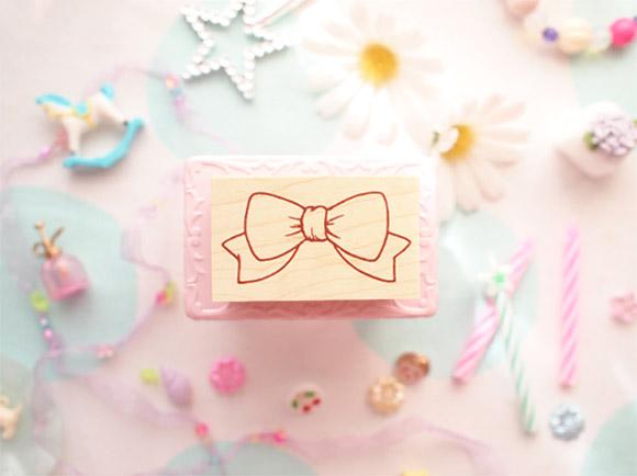 Kawaii Cute Handmade Stamps Bow