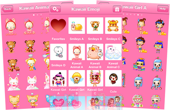 Kawaii Emoticons iPhone app