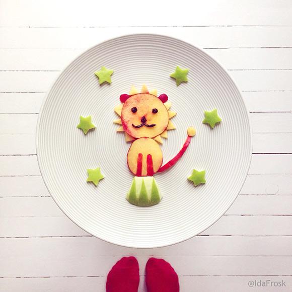Cute Food Art Ida Frosk - Circus Lion