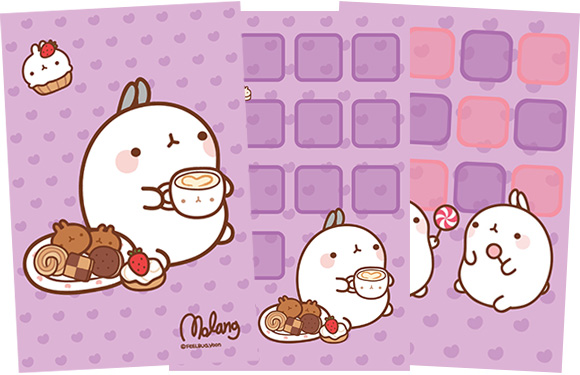 Molang iPhone Theme teatime