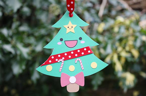 Kawaii Christmas tree gift card