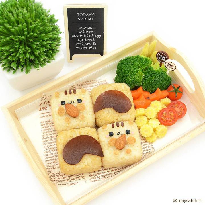 Kawaii Bento by Maysatch Lin - Squirrel
