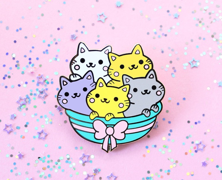 Yum Yum Cats - We Are Extinct Pin Review