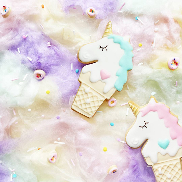vickie lu - cute pastel unicorn cookies
