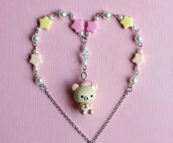 kawaii jewelry korilakkuma necklace