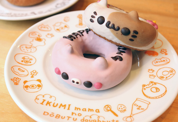 Cute and kawaii animal Donuts