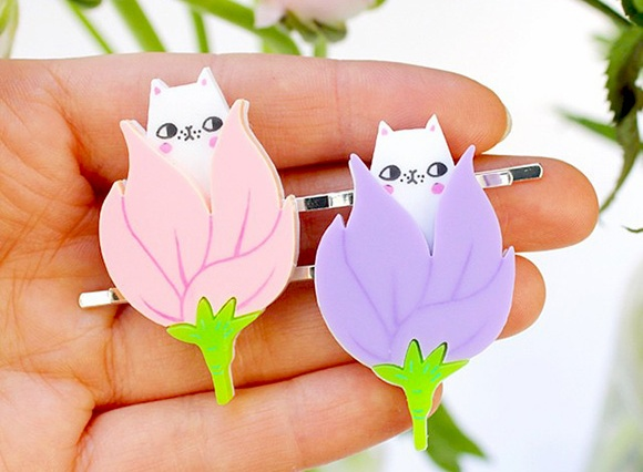 Spring Kittens Hairclips - I Love Crafty x Pony People