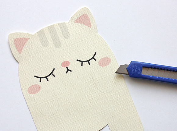 Cute Cat Card DIY Craft