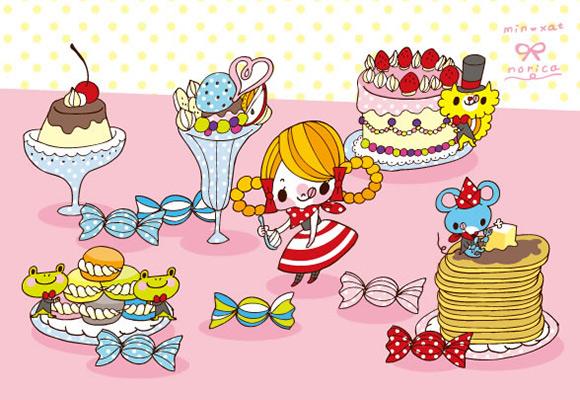 Seri Norica - Cute Japanese Illustrations