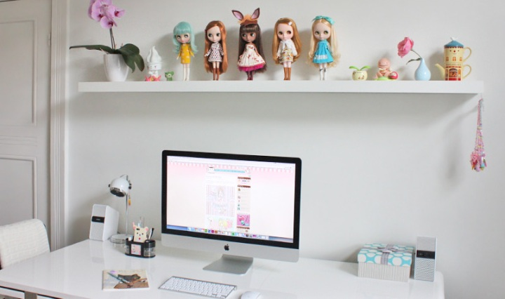My Kawaii Home Office Desk