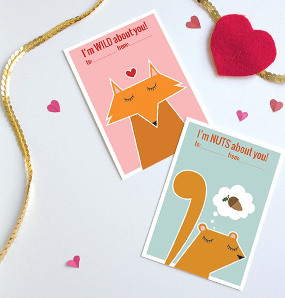 Free kawaii Card Valentines DIY Craft