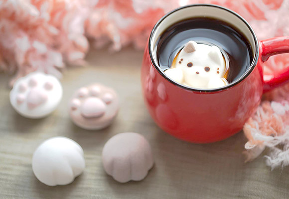 cat cafe marshmallow shipping worldwide