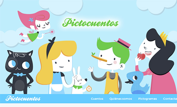 Cute Flat Website Webdesign
