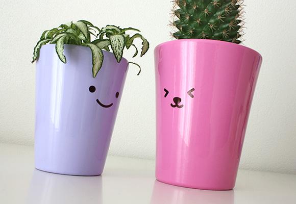Cute DIY Craft - Kawaii Flower Pot