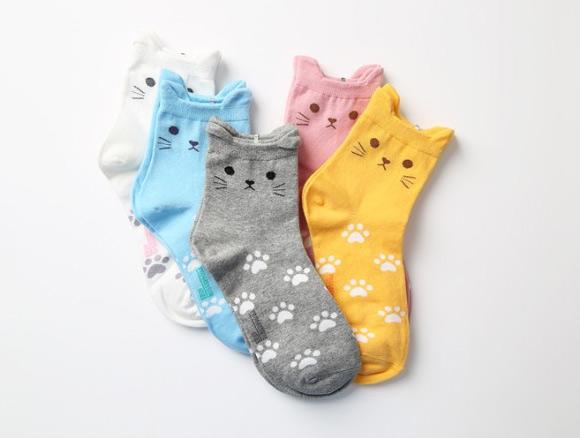 cute cat ear socks