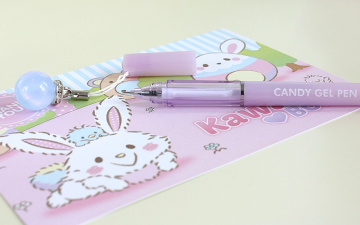kawaii box japan march 2017 - pastel pen