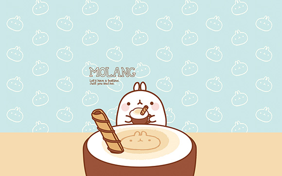 Molang Cute Korean BunnyDesktop  Wallpaper