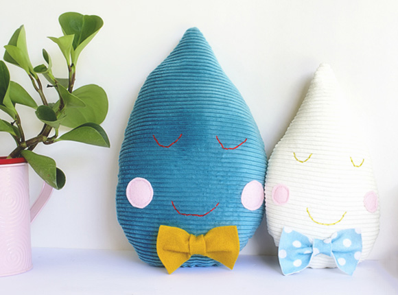 Cute Raindrop Cushion DIY