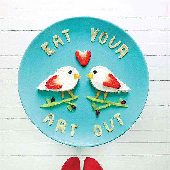 Cute Food Art Ida Frosk - Bird Toast