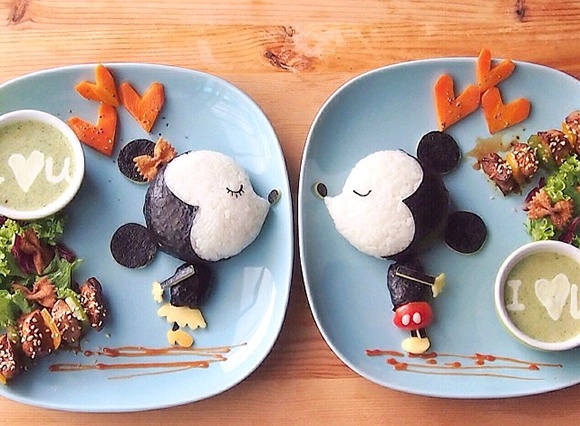 Mickey Mouse - Food Art Kids Meals Bento Cute Kawaii Samantha Lee