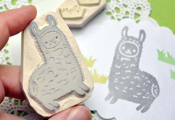Kawaii Stamp Alpaca Alpcasso