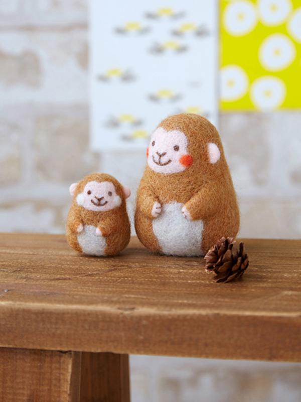 Makiko Arai's Smiling Felt Animals - Monkey