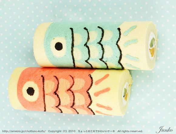 Cute Deco Cake Rolls Junko