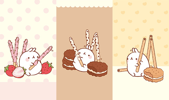 Molang Cute Korean Bunny iPhone Mobile Phone Wallpaper