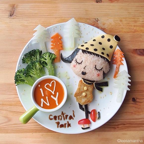 Skating - Food Art Kids Meals Bento Cute Kawaii Samantha Lee