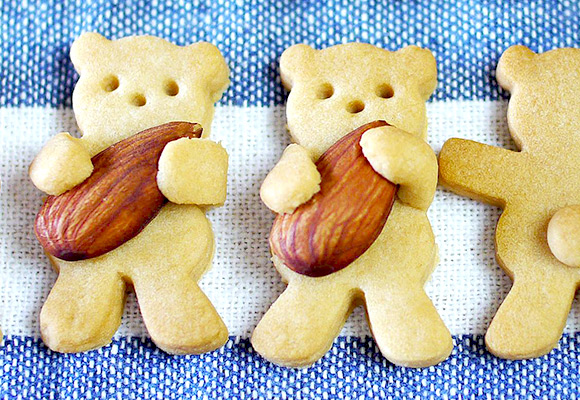 Kawaii recipes from Mosogourmet - Rugby Bear Cookies
