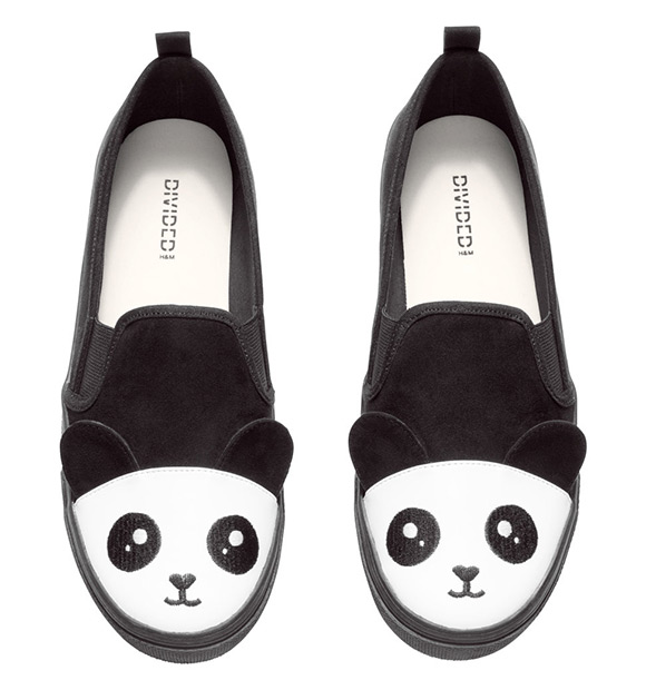 H&M Kawaii Panda Loafers 2015