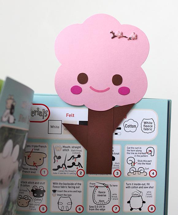 DIY Sakura Tree Clip - Bookmark kawaii