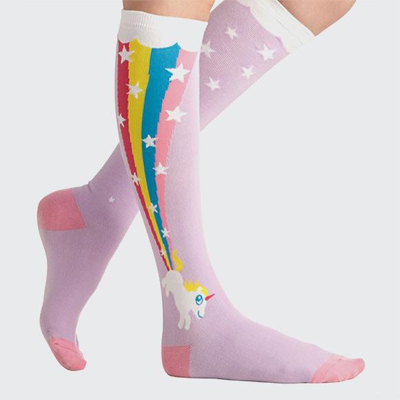 cute rainbow unicorn socks