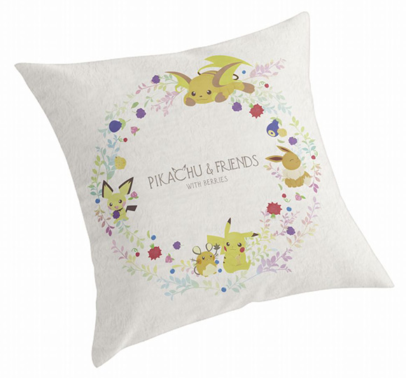 Pikachu and Friends with Berries - Pillow