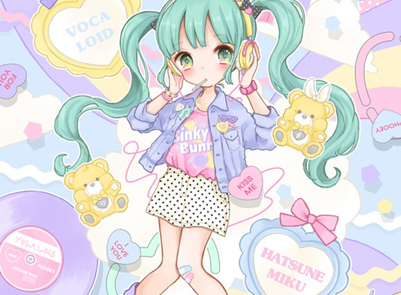 Manamoko kawaii illustrations - pastel fairy kei
