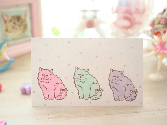 Kawaii Cute Handmade Stamps Cat